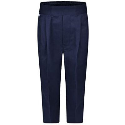 Boys Pull Up (Non-Zip) Trousers - Navy