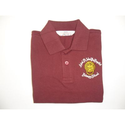 Adel St.Johns the Baptist Primary School Maroon Polo Shirt