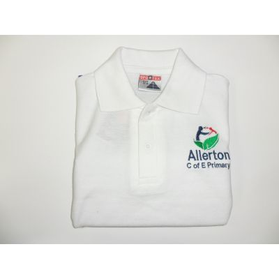 Allerton CofE Primary School White Polo Shirt