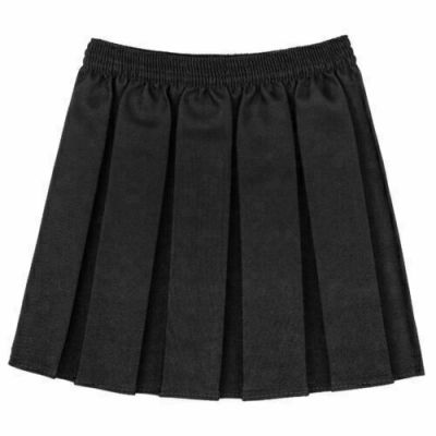 Box Pleated Skirt - Black
