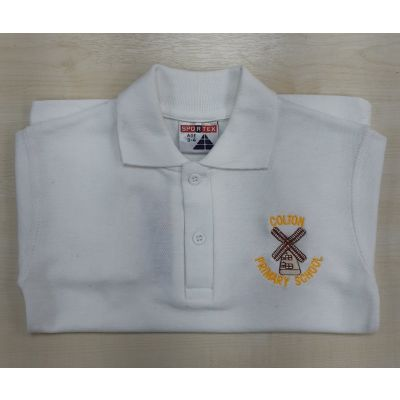 Colton Primary White Polo Shirt