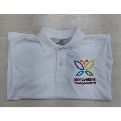 Ebor Gardens Primary White Polo