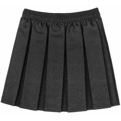 Box Pleated Skirt - Grey