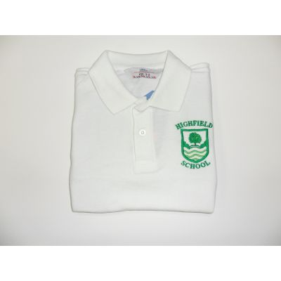 Highfield Primary School White Polo Shirt