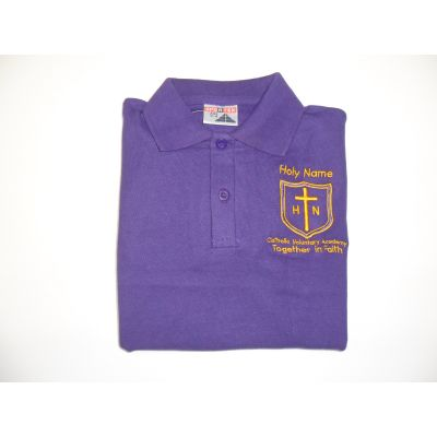 Holy Name Catholic Voluntary Academy Purple Polo Shirt