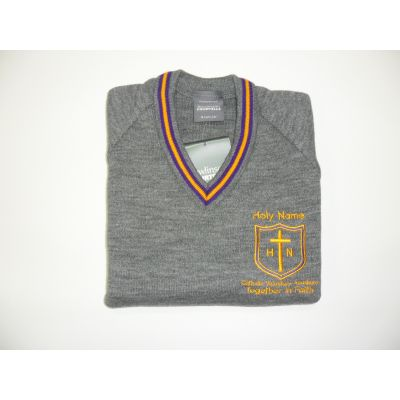 Holy Name V-Neck Pullover