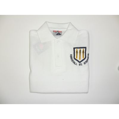 Kirkstall St. Stephens C of E Primary School White Polo Shirt