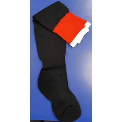Lawnswood Black/Red/White Sports Socks
