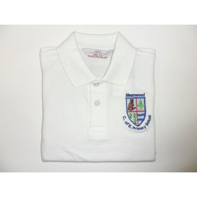 Meanwood CofE Primary School White Polo Shirt