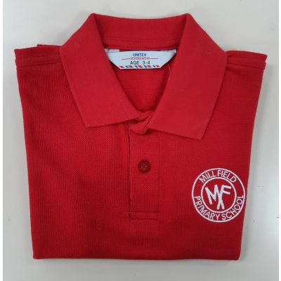 Mill Field Primary Red Polo