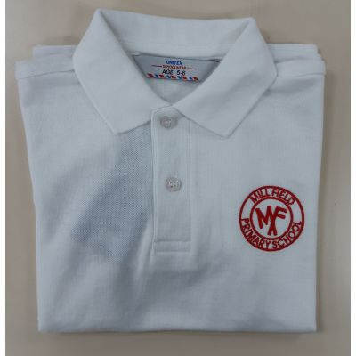 Mill Field Primary White Polo