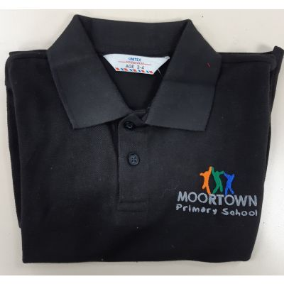Moortown Primary Black Polo Shirt