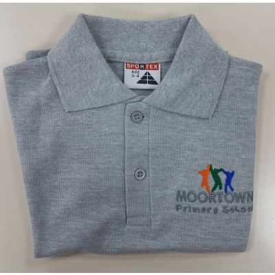 Moortown Primary Grey Polo Shirt
