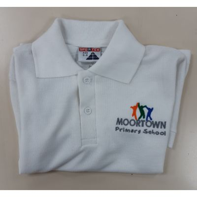 Moortown Primary White Polo Shirt