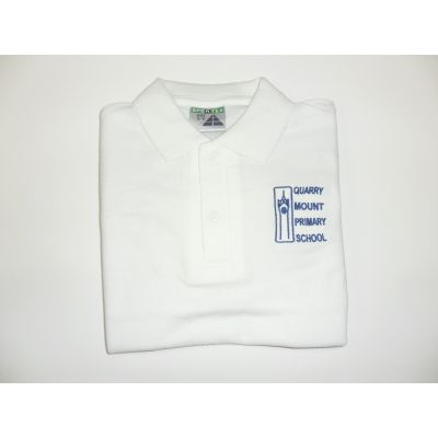Quarry Mount Primary School White Polo Shirt