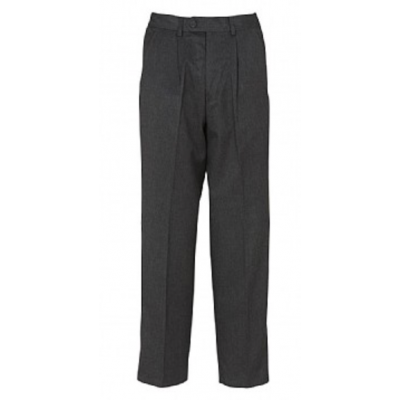 Boys Adjustable Waist Trousers - Grey