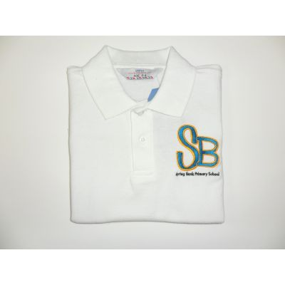 Spring Bank Primary School White Polo Shirt