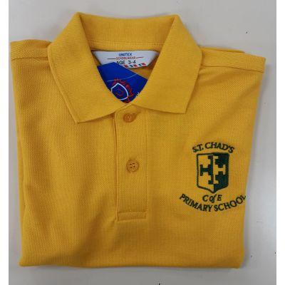 St Chad's CofE Yellow Polo Shirt