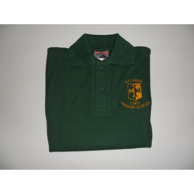 St Chads Church of England Primary School Green Polo Shirt