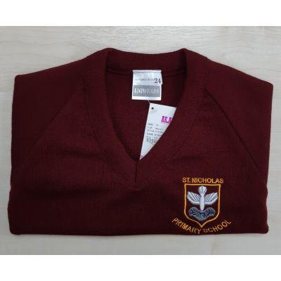 St Nicholas Primary School V-Neck Pullover