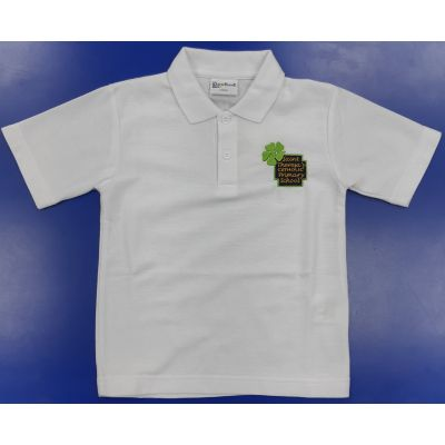 St Theresa's Primary White Polo Shirt