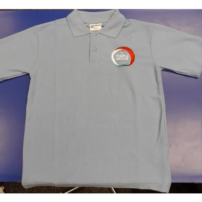 Temple Moor High School Sky Polo Shirt