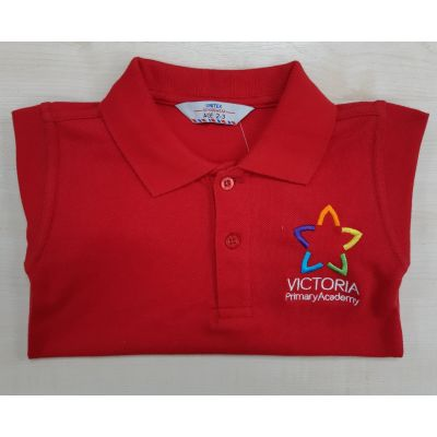 Victoria Primary Red Polo Shirt