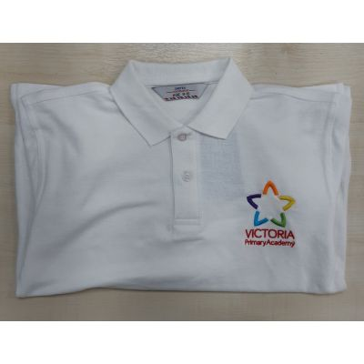 Victoria Primary White Polo Shirt