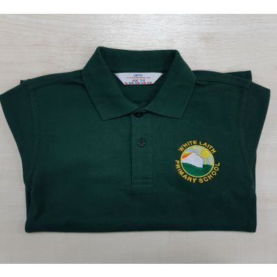 White Laith Primary School Bottle Green Polo