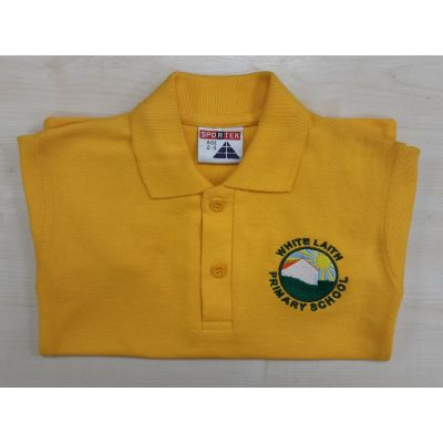 White Laith Primary School Gold Polo