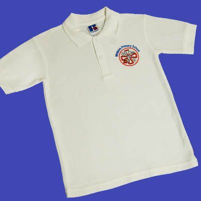 Whitkirk Primary School White Polo *OLD LOGO*